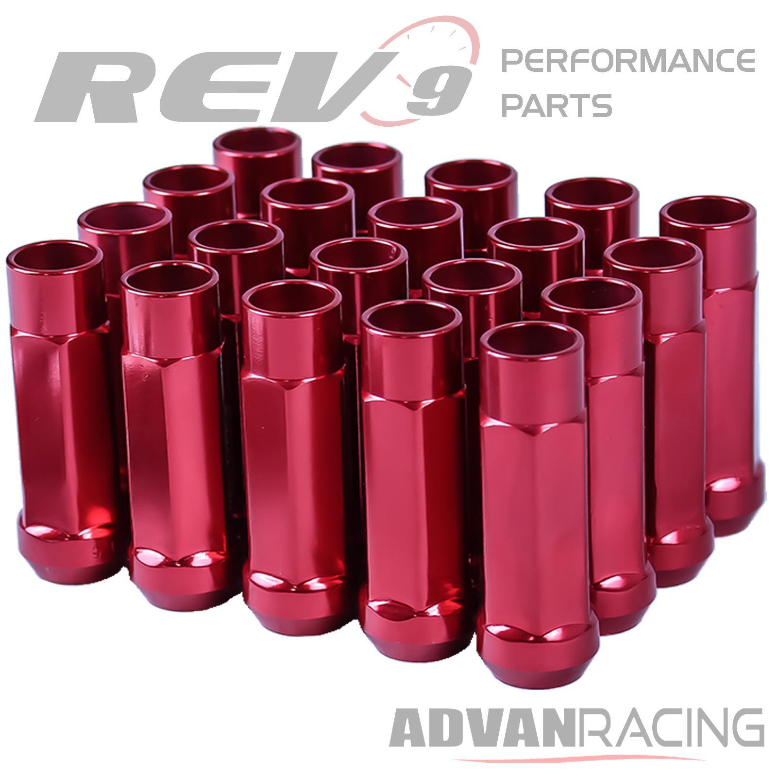 Godspeed 60mm Red Type-X Aluminum Open Lug Nuts 20pcs