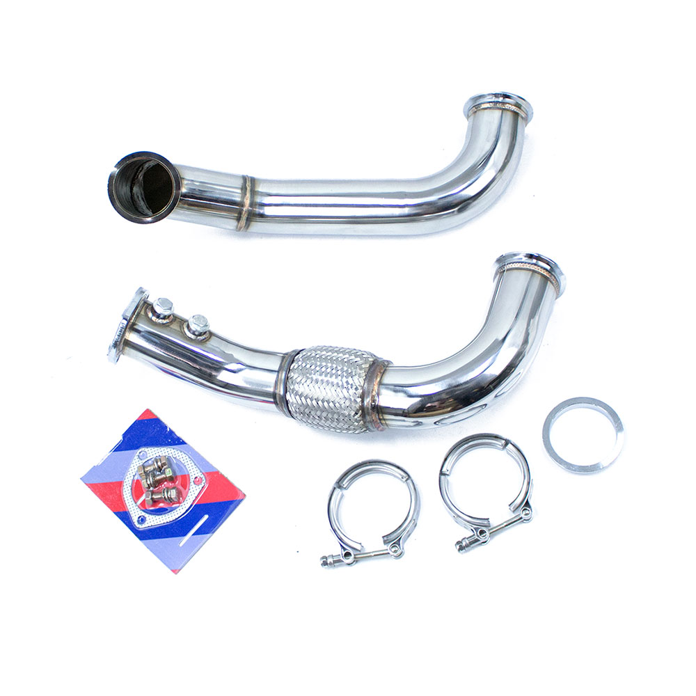 Stainless Turbo Downpipe Exhaust Tube For K20 Sidewinder
